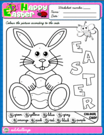 Easter - Colouring Worksheet
