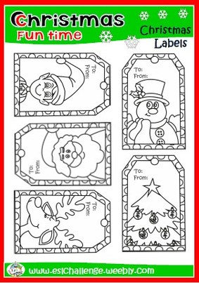 Christmas labels arts & crafts
