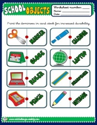 School objects - dominoes