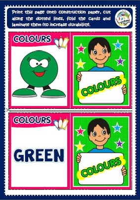 Colours - memory cards game