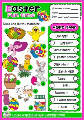 #Easter printable worksheet