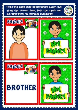 family - memory cards game