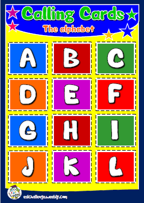 English teaching resources + the alphabet bingo