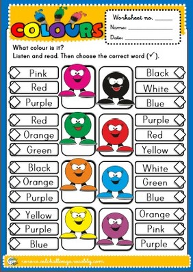 Colours - worksheet