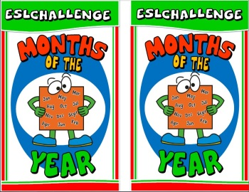 Months of the year matching cards