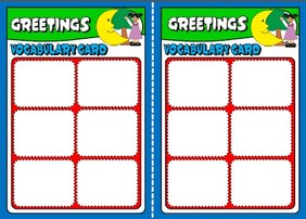 Greetings - board game