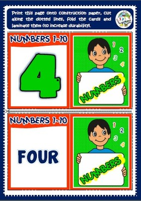numbers - memory cards game