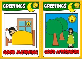 Greetings - flashcards