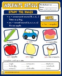Indefinite articles - worksheets