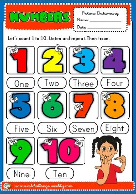 numbers - picture dictionary