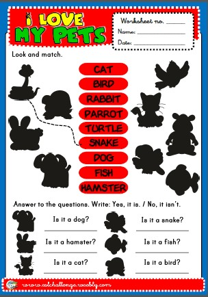 pets - worksheet