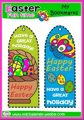 #Easter bookmarks