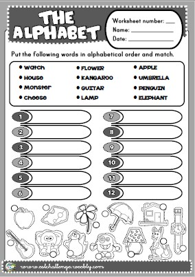 Alphabet printable worksheet