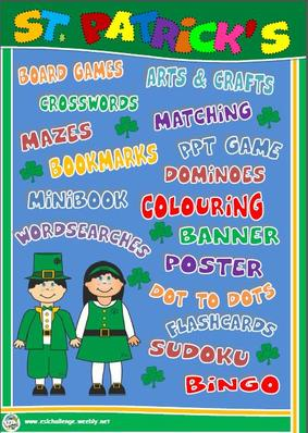 ST. PATRICK'S DAY RESOURCES - PRINTABLES AND PPT GAMES