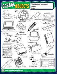 School Objects - poster