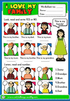 family - worksheet