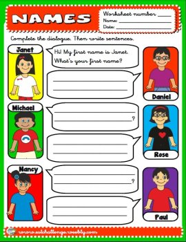 Name - worksheet