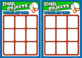 School objects - board game