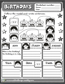Birthdays worksheet