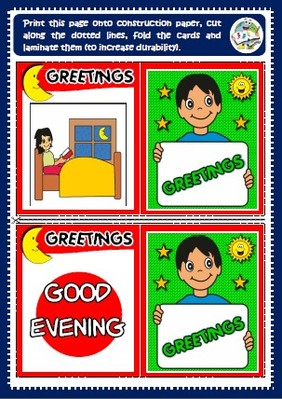Greetings - worksheet