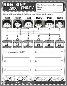Age worksheet