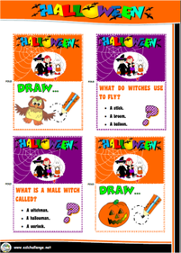 Halloween board game cards
