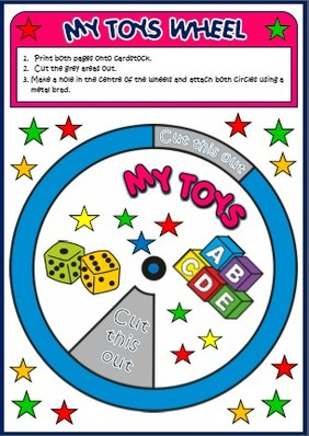 toys - vocabulary wheel
