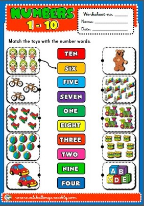 numbers - worksheet