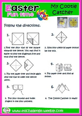 #Easter cootie catcher