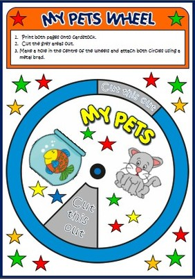 pets - vocabulary wheel