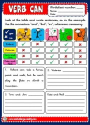 Expressing abilities - can - worksheets