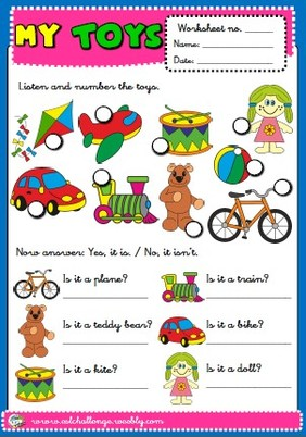 toys - worksheet