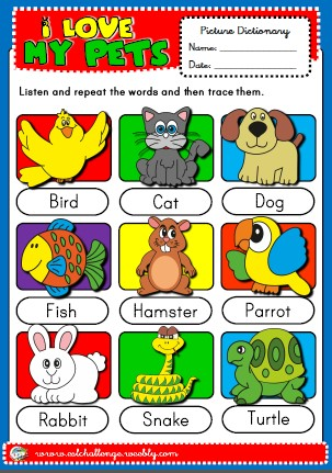 pets - picture dictionary