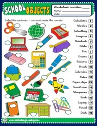 School Objects - worksheet 1