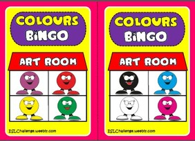 Colours - bingo cards