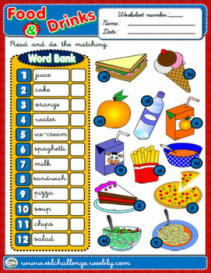 School Objects - worksheet