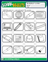 School Objects - picture dictionary