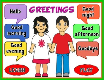 greeting ppt game