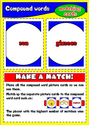 #compoundwords; #matchingcards