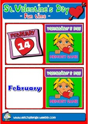 Valentine's games + memory cards