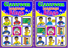 English teaching resources + classroom language flashcards
