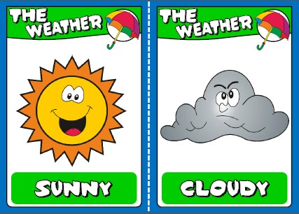 the weather - flashcards