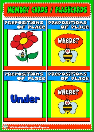 #Prepositions memory cards