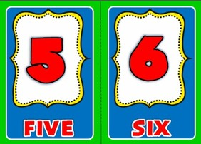 numbers - flashcards