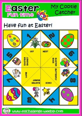 easter cootie catchers easter pack eslchallenge 1916
