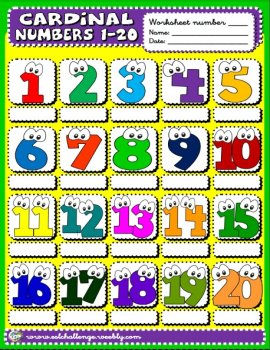 Cardinal numbers picture dictionary