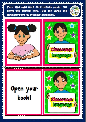 Classroom Language - memory cards game