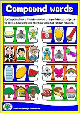 #compoundwords; #worksheets; #printables; #poster