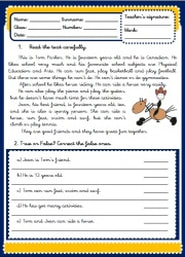 Expressing abilities - can - worksheets - test