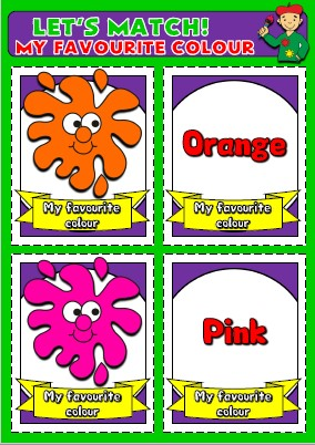 English teaching resources + colours flashcards